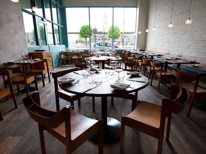 Dining room at OX Belfast