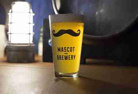Mascot Brewery beer glass