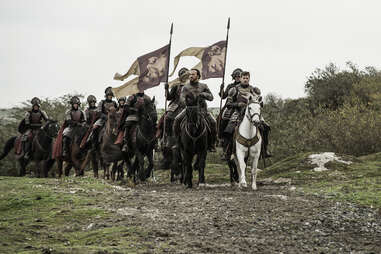 Jerome Flynn as Bronn and Nikolaj Coster-Waldau as Jaime Lannister in Game of Thrones season finale The Winds of Winter