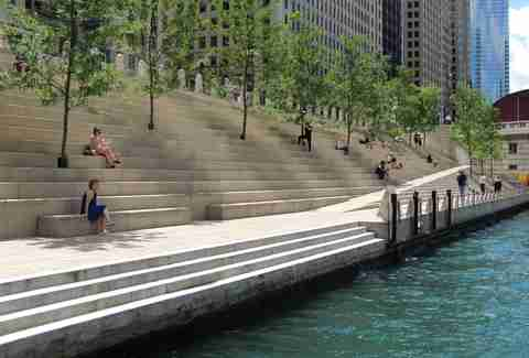 The Riverwalk in Chicago