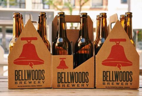 Beer bottles at Bellwoods Brewery