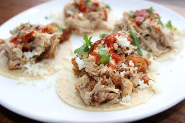 chicken tacos at Charlie's