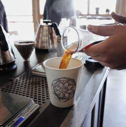 Hot coffee at Anthology