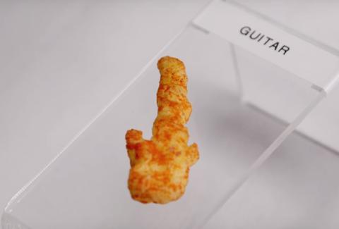 Cheeto Shaped Like Guitar