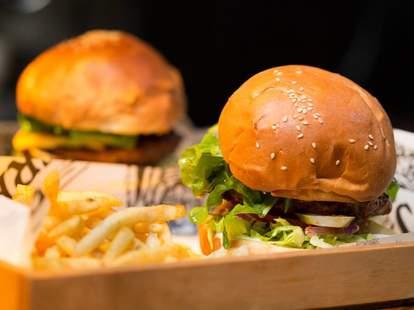 Burgers at Jerry's Burger Bar
