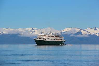 Small Cruise ship Alaska