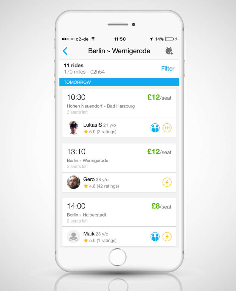 BlaBlaCar ride sharing app