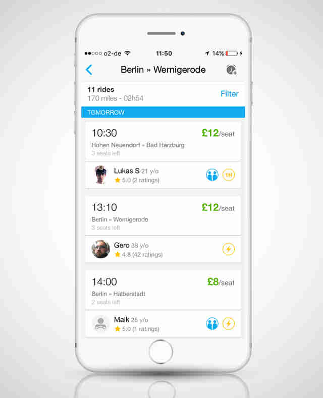 BlaBlaCar ride sharing app