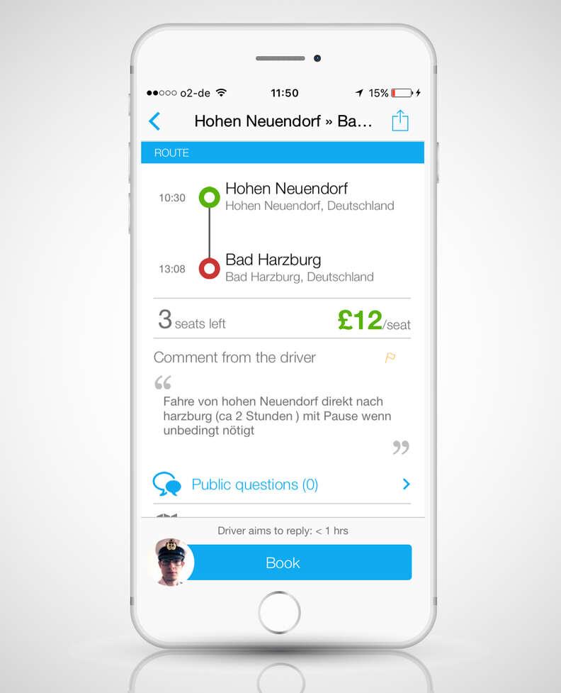 BlaBlaCar European ride share app