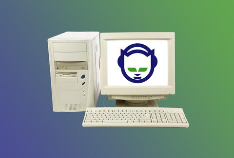 Napster on an old desktop computer