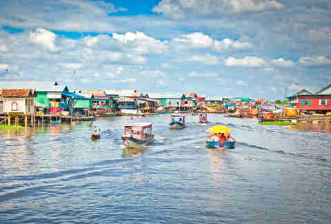 A floating village Cambodia