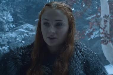 Sansa on game of thrones season 6 finale