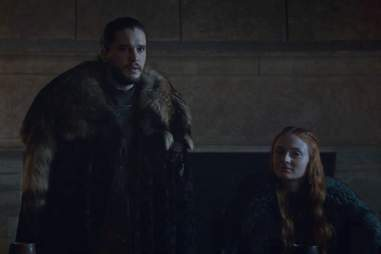 jon and sansa in game of thrones season 6 finale