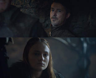 Littlefinger and sansa game of thrones finale