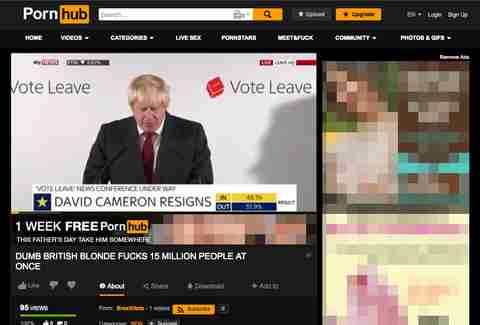 Boris Johnson Pornhub
