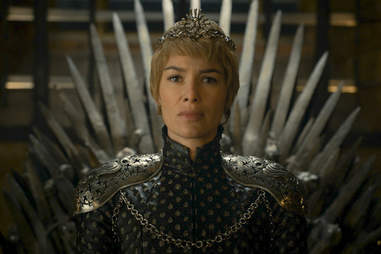 cersei on throne game of thrones