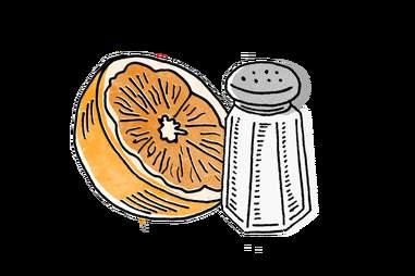 Orange and salt