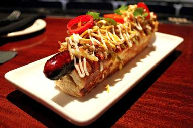 foot-long hot dog
