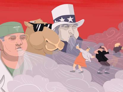 illustration of vaping conspiracies