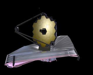 rendering of the James Webb Space Telescope