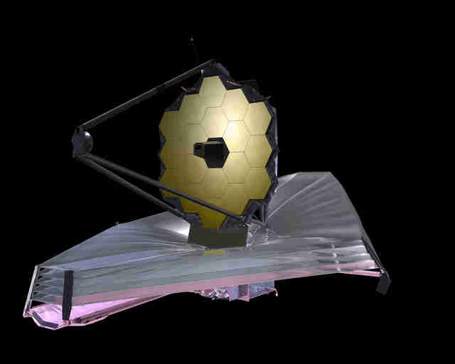 rendering of the James Webb Space Telescope