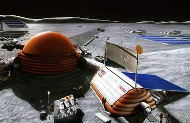 artist's rendering of NASA lunar outpost