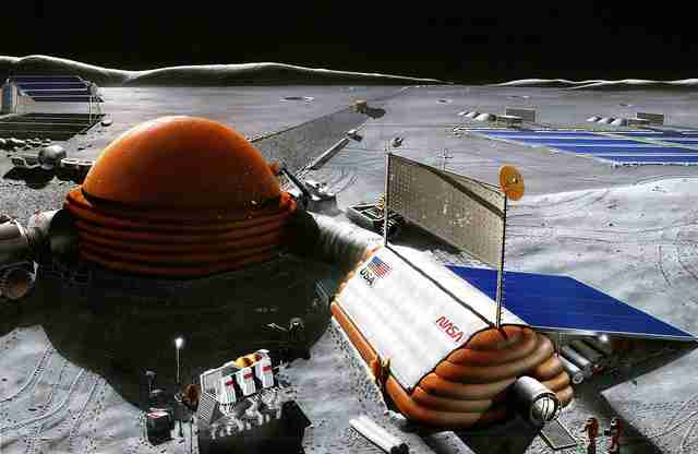 artist's rendering of NASA lunar outpost