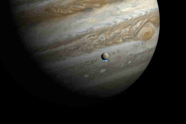 artist's impression of jupiter's moon Europa