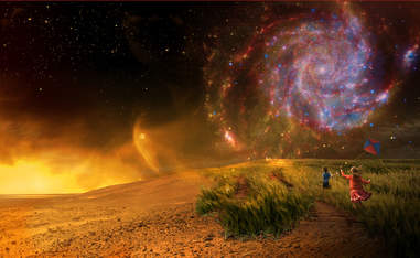 nexss image of children frolicking on foreign planet