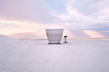 White Sands Naitonal Monument Rest Stop