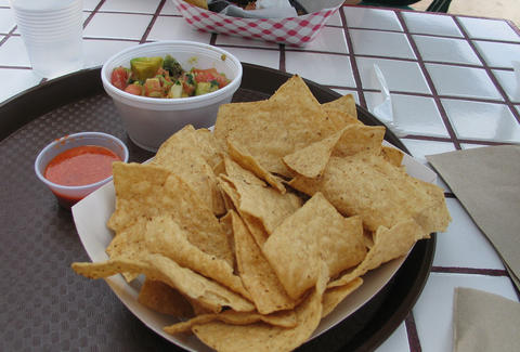 Chips and salsa at Laguna Feast