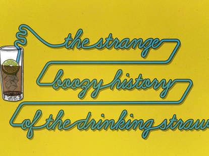 Drinking Straw Cocktail Mint Julep