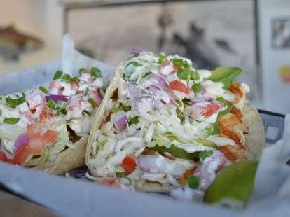 tacos at Blue Water