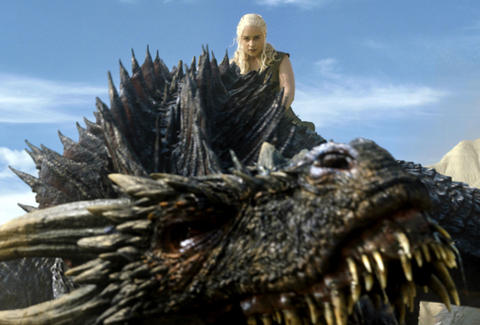 daenerys on dragon game of thrones season 6