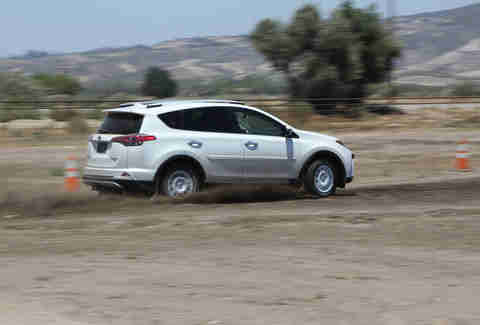 Driving a RAV4 Hybrid on the dirt