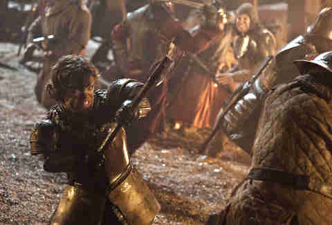 Peter Dinklage as Tyrion Lannister in the Game of Thrones episode Blackwater