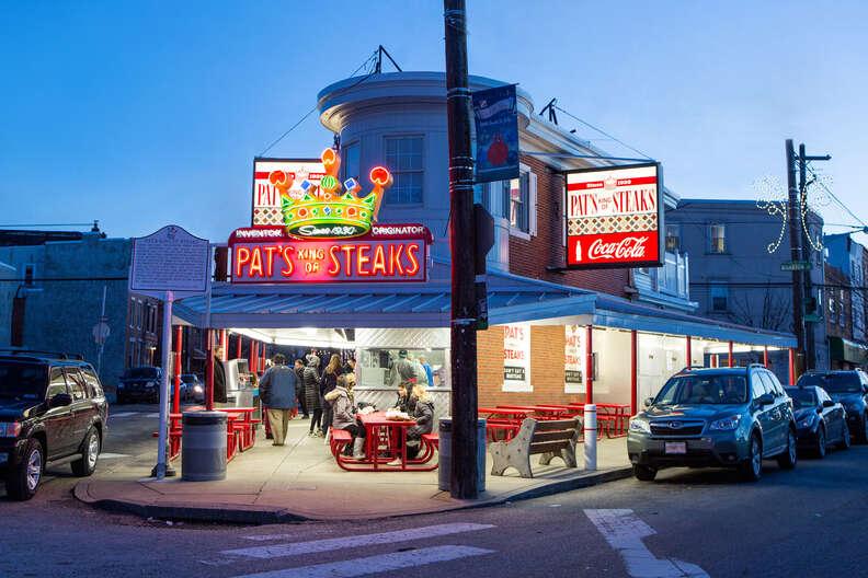 Pat's cheesesteak
