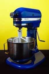 blue kitchen aid stand mixer