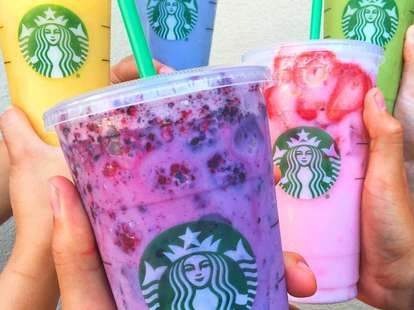 Starbucks Secret Rainbow Drinks