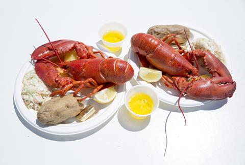 boiled lobster and butter