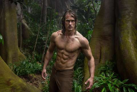 the legend of tarzan alexander skarsgard shirtless abs