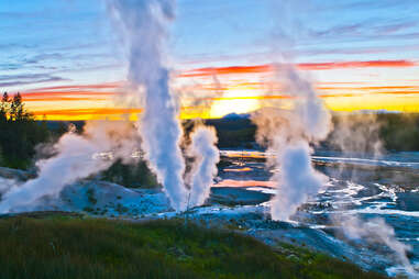 Geysers at Yellowstone National Park