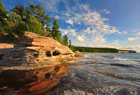 Pictured Rocks coastline