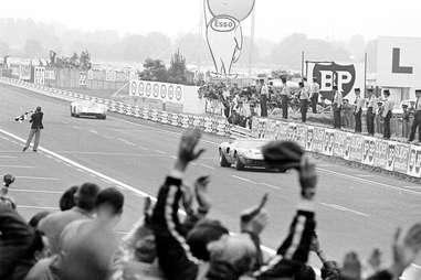 The Ford GT40 Mk II wins Le Mans in 1968