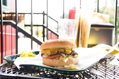 Helvetia Tavern Cheeseburger