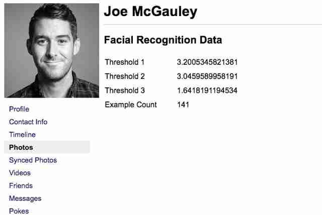 facebook facial recognition data