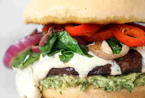 Portobello Mushroom Burger with Avocado Chimichurri