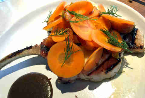 pork chop and carrots