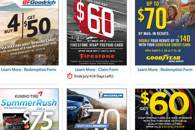 There are a lot of different tire rebates out there