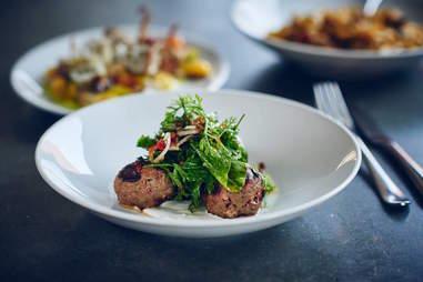 bestia meatball plate